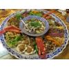 酒店海鲜大餐盘陶瓷大盘订制批发