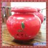 彩绘装饰罐子 高档瓷茶叶罐 时尚礼品蜂蜜罐
