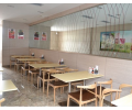 仿實木鐵藝牛角椅奶茶甜品店主題餐廳咖啡廳食堂快餐桌椅組合