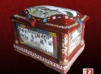 高档手绘陶瓷骨灰盒批发厂家,棺材骨灰坛