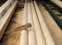 供应古建筑用松木圆柱,寺庙防腐圆柱子,碳化木大方