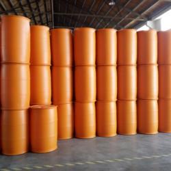 浙江200L平面双环橙色化工塑料包装桶——优质的200L平面双环橙色化工塑料包装桶出售