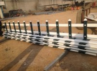 四川塑钢栏杆 PVC草坪护栏 优美雅塑钢PVC围栏