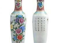 景德镇大花瓶,景德镇落地大花瓶定制,高档礼品花瓶图片