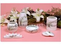 景德镇陶瓷茶杯三件套高档茶杯礼品茶杯办公用品茶杯