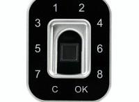 G12电容式指纹密码抽屉锁 更衣柜锁 珠宝柜台锁