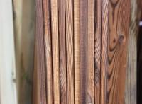山东碳化木厂家供应松木炭化木 表面碳化地板用于栅栏扣板