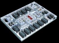 数据机房效果图制作|作战指挥室效果图设计