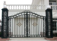 别墅大门 天津安装铁艺庭院大门 豪华欧式大门