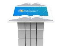 46寸书型卧式查询一体机 多媒体电子翻书机教学会议机