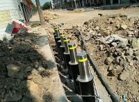 湖北升降路樁,液壓一體式升降樁,氣壓半自動路樁