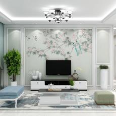 客厅3D沙发墙墙纸新中式壁纸无缝影视电视背景墙壁画墙布平方米有