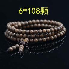 108颗寺庙念经家用配饰木质信仰手链圆形制作加长佛珠手串木头抛