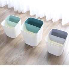 干湿双用分类家用垃圾桶客厅厨房卫生间纸篓垃圾筒篓加厚塑料桶