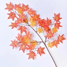园林绿景 装饰叶子  五角枫 大树造景枫叶 仿真红枫叶 红枫