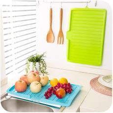 方形置物架塑料碗碟沥水架可排水托盘餐具批发 热销厨房用具