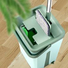 懒人平板拖把 家用 霸州拖 刮刮乐 地板干湿两用 免手洗拖把