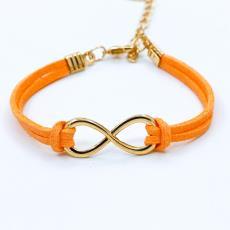 欧美外贸饰品批发 义乌小商品批发市场手饰 时尚符号8字麻绳手链