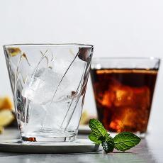 日本进口石塚硝子 家用透明果汁杯 商用创意玻璃水杯子茶杯酒杯