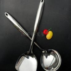 实惠促销 厂家小商品市场批发不锈钢炒菜铲 全钢柄无磁锅铲 汤勺