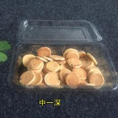 供应透明塑料食品果蔬盒 中一平草莓水果打包盒批发 中一深甜点盒