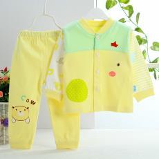 婴幼儿棉针织超值对门套装 一件代发 幼儿童棉毛内衣厂家批发