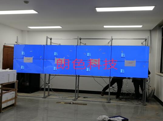 重庆潼南某化工厂监控液晶拼接屏46寸5.5mm监控大墙