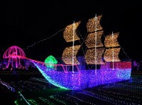 灯光艺术节厂家灯光造型镀锌钢结构框架分层结构易拆装