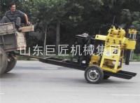 湖南全液压水井钻机华夏巨匠轮式行走水井钻机200米拖车打井机