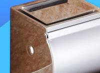 201不锈钢浴室手机架纸巾架卫生间纸巾盒可放手机抽纸