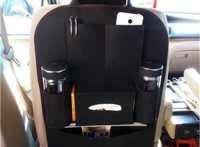 廠家批發時尚毛氈汽車椅背收納袋 創意多功能車用椅背雜物收納袋