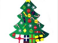 定制毛氈圣誕樹掛件 圣誕櫥窗裝飾品