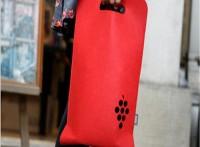 厂家热销供应毛毡红酒袋 创意多色环保手提毛毡红酒袋
