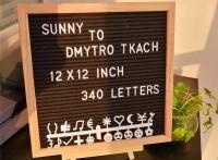 可定制亞馬遜爆款木質毛氈字母留言板
