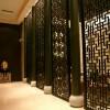 专业定制镜面玫瑰金不锈钢屏风 酒店拉丝玫瑰金不锈钢屏风