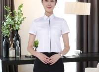 韩版短袖衬衫女裤套装ol免烫抗皱女式职业套装商务休闲正装定制