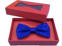 厂家专业定制高档包装礼盒 精美开窗领结礼物盒 大红色领结盒子