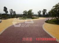 成都学校彩色透水混泥土路面的施工案例