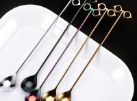 304不銹鋼創意攪拌勺大眼長柄咖啡勺帽子甜品更定制logo