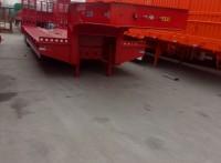 低平板半挂车结构配置及整车重量