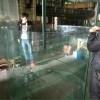 廣州市上門公司前臺觀賞魚魚缸定做,天河區上門公司前臺魚缸定制