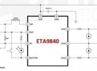 ETA9840,充電輸入5V/3A,升壓放電2.4A移動電源