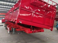 拉80吨的侧翻自卸半挂车配置和规格尺寸
