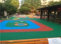 動動樂幼兒園ETPU塑膠跑道地面施工