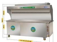 商用大型不锈钢环保无烟净化器无烟净化烧烤车木碳烤炉