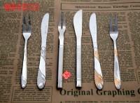 月餅刀叉,精美禮品餐具,蛋糕專用刀叉,仙鶴月餅刀叉勺