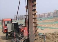 呼市包头基坑支护降水楼房喷浆加固基础打桩工程
