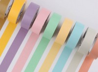 来图定制彩色小清新系列纯色DIY装饰素材和纸胶带