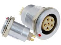沿溪连接器6芯母座航空接插件仪器信号传输采集器工业我x你xx连接口