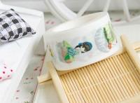 来图定制可爱吃货小女孩与美食系列DIY装饰和纸胶带
